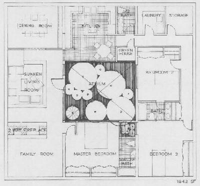 Sample plans for House plans with atrium in center